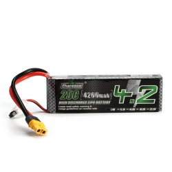 Charsoon 7.4V 4200mAh 25C 2S Lipo Battery XT60 Plug With Strap